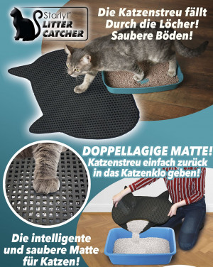 Cat mat - and the floor stays clean!
