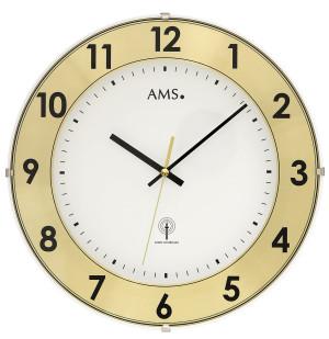 AMS Tijdsein gestuurde wandklok met aluminium cijferring
