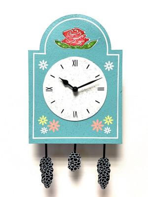 Pendulum sign clock blue