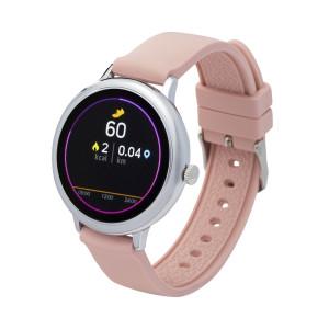 Fitness Tracker/ Smartwatch mit Wechselarmband rosa/ grau