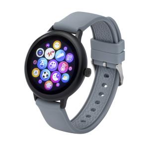 Fitness tracker / smartwatch met verwisselbare polsband zwart/ grijs