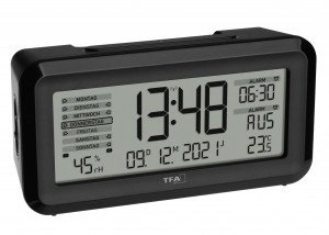 TFA radio alarm clock with room climate