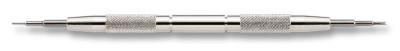 Outil aux barrette en acier avec pointe et fourchette fine, longueur 145 mm