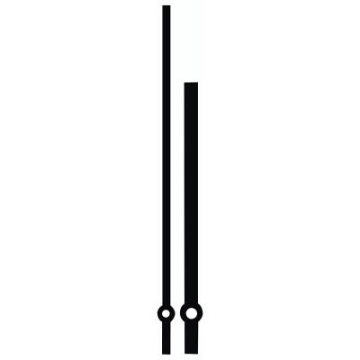 Wijzerpaar Euronorm Recht zwart Min.- / Uurwijzer L: 122mm / 90mm