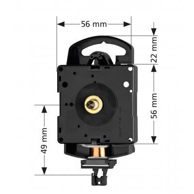 Kwarts slingeruurwerk MS, Hermle 2200, WWL 16,0mm