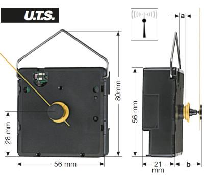Tijdseinuurwerk GK UTS 700, WWL 19,50mm, extra sterk
