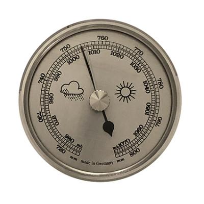 Barometer inbouw weerinstrument Ø 65 mm, zilverkleurig