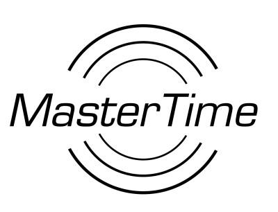 MasterTime Damen-Funkuhr Expert Titan, silber/ schwarz - MTLT-10350-22M