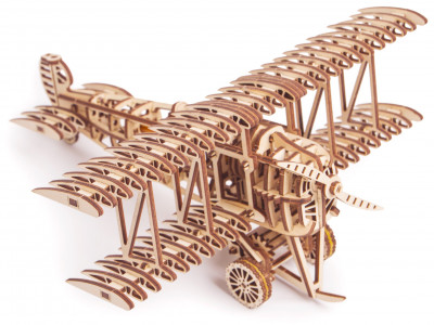 WOOD TRICK Vliegtuig/ Dubbeldekker, 148 onderdelen
