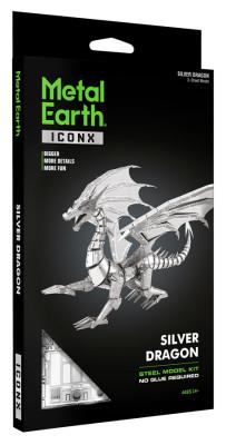 MEATL EARTH 3D Bouwset Zilveren Draak