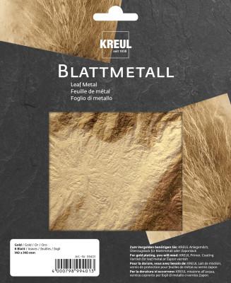 Bladgoud metaal, 6 bladen