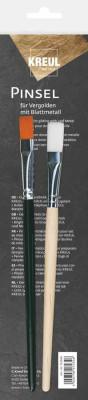 Penseel voor vergulden met bladmetaal, set van 2