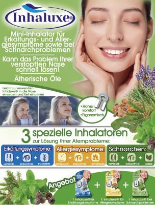 Inhalux mini inhalator voor verkoudheidssymptomen - Kan het probleem van verstopte neus oplossen!