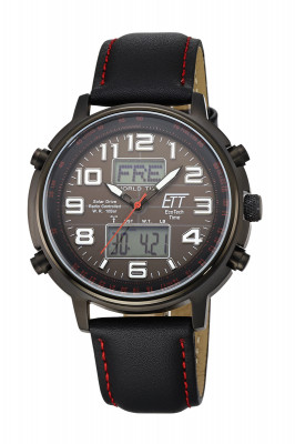 Eco Tech Time Solar Drive tijdsein gestuurd uurwerk Hunter II polshorloge - EGS-11452-22L