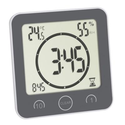 TFA Badkamerklok / Keukenklok met timer