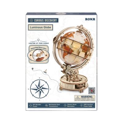 ROKR 3D Bouwset Wereldbol met verlichting