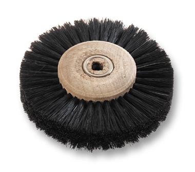 Ronde haarborstel zwart recht Ø 80 mm 4 rijen