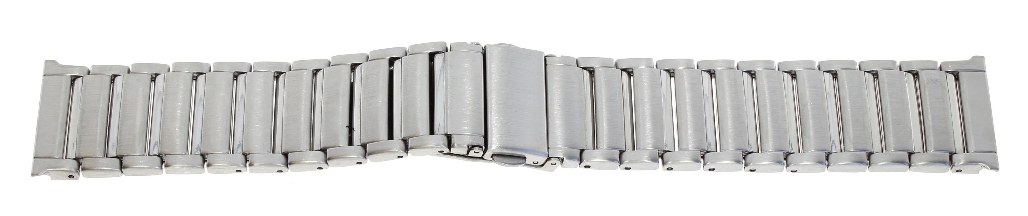 Horlogeband met vouwsluiting met druktoetsen
