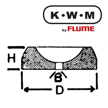 KWM Bouchon Messing KL 205 , B 0,11 - H 0,35 - D 1,00 mm