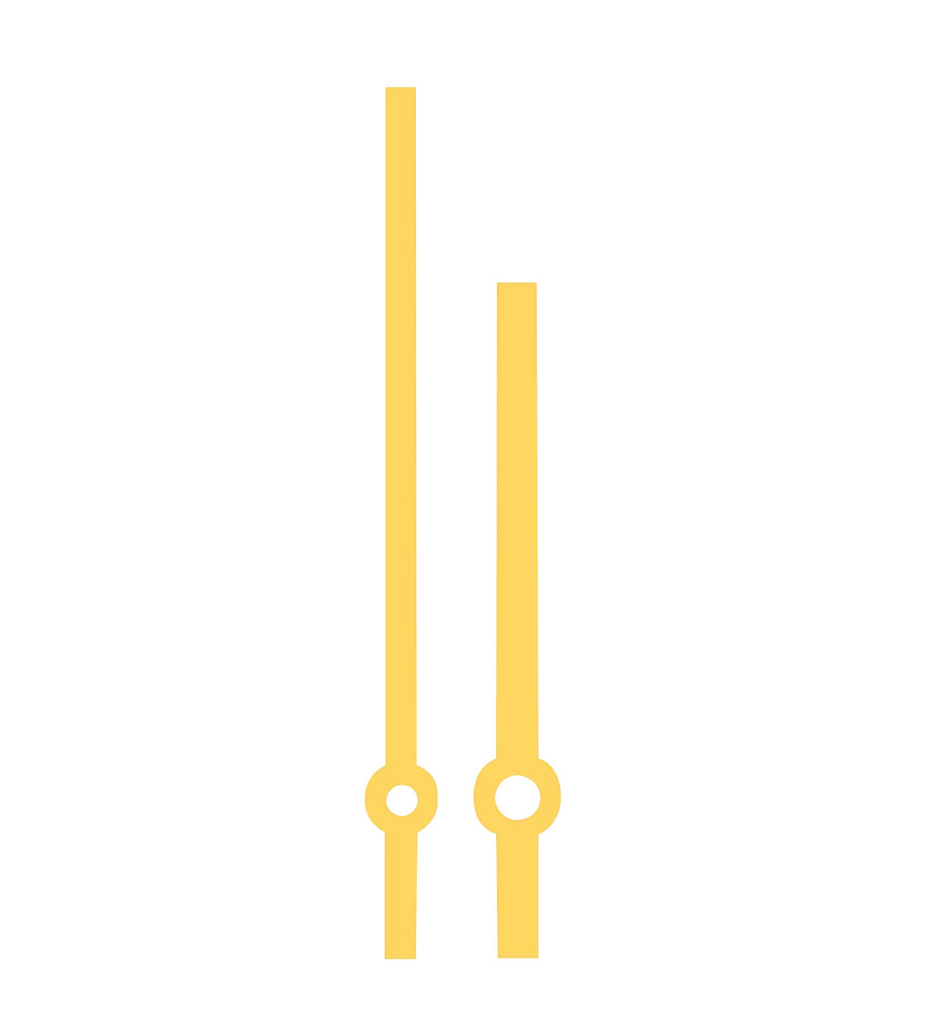 Wijzerpaar Euronorm balkvormig chroom minutenwijzer-L:87 mm