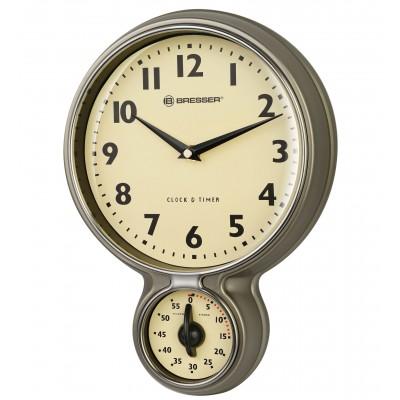 BRESSER retro-keukenklok met timer