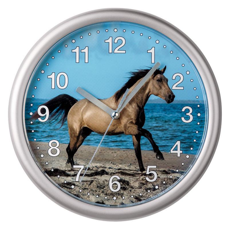 """Horloge murale """" Cheval """""""