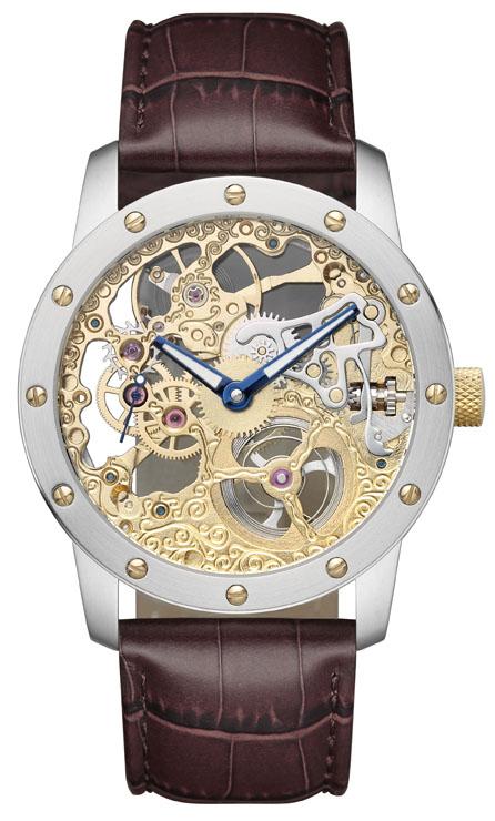 SELVA Skelet horloge, handopwinding, Doublé