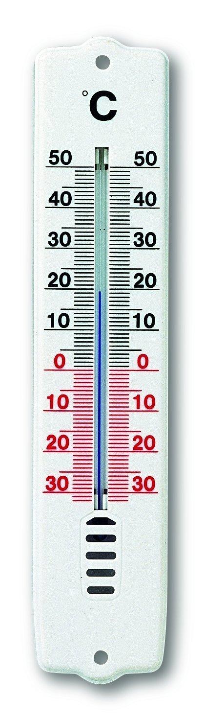 TFA Thermometer voor binnen- en buitengebruik, kunststof wit