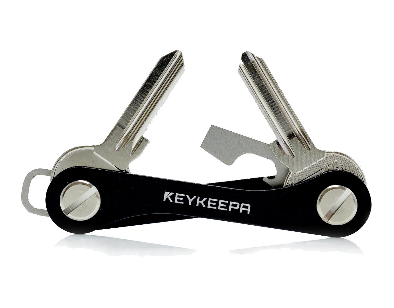 Keykeepa Sleutelhouder aluminium, tot 12 sleutels, zwart
