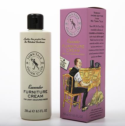 TOWN TALK Lavendel meubel verzorgende crème, voor licht hout, 225ml.