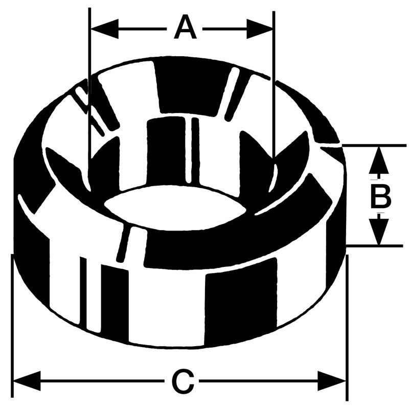 Bergeon bouchon messing B18, gat Ø 1,75 buiten Ø 3,50 hoogte 3,00 mm, inhoud 10 stuks