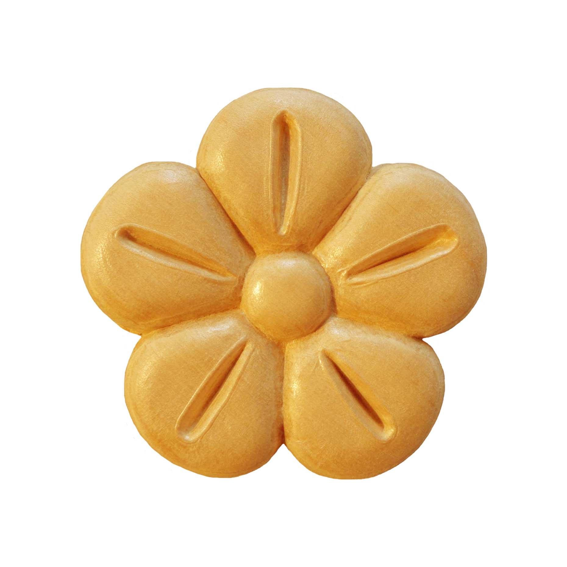 Sierdeel hout bloem Ø 55 x 7mm