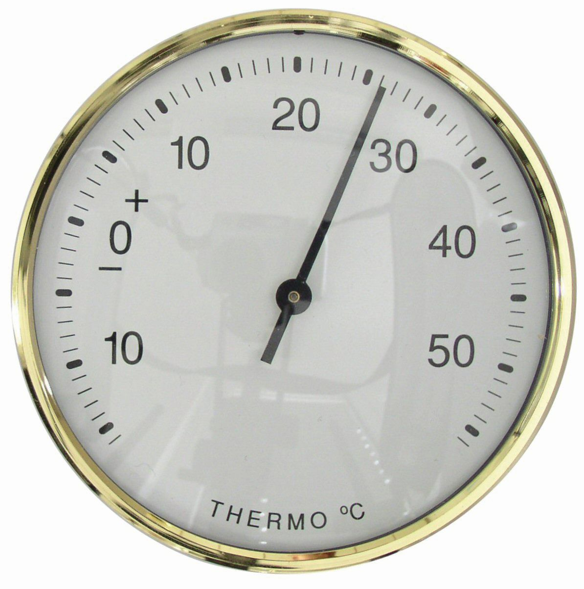 Thermometer Ø 81 mm wit/doublé