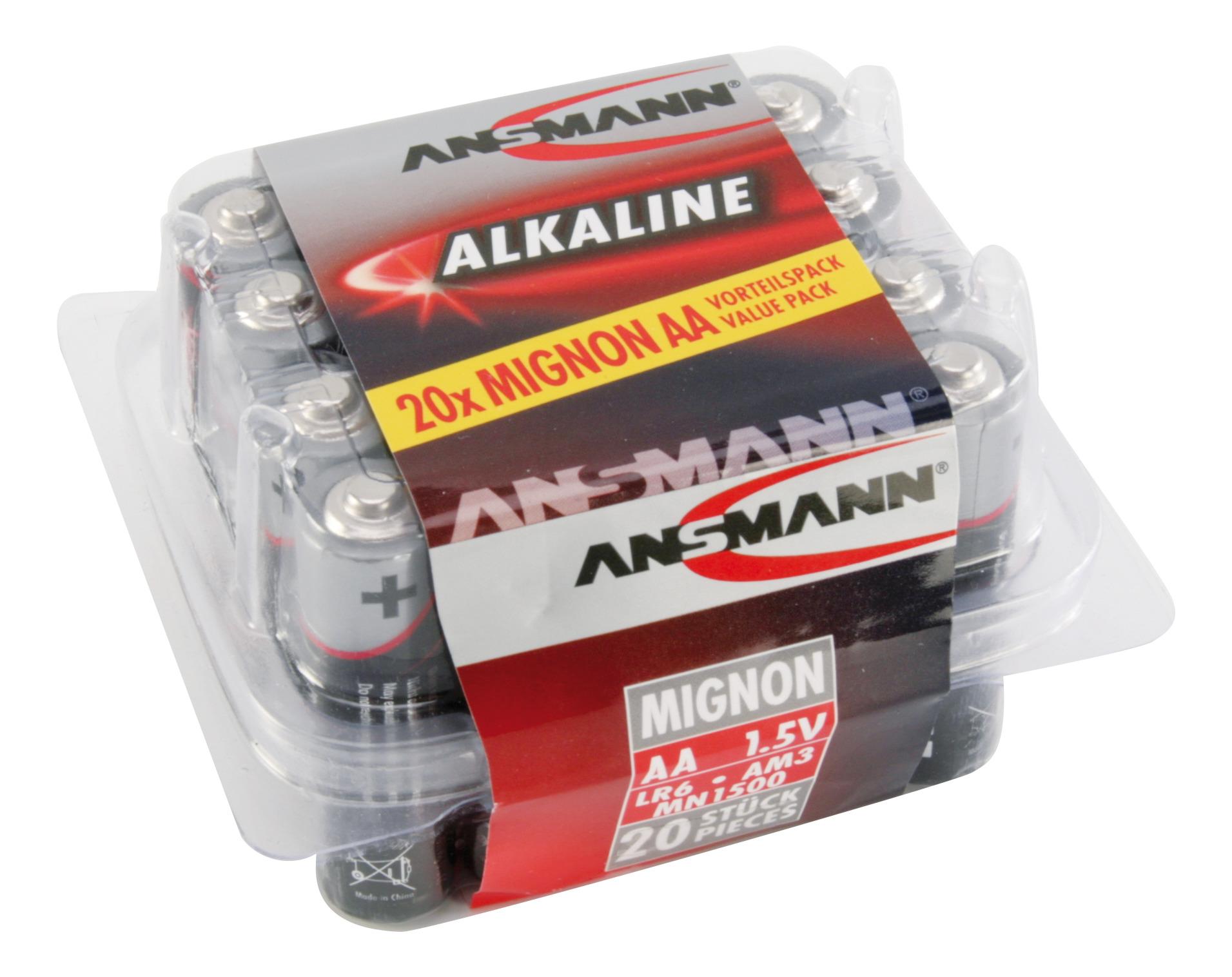 RED Assortiment alkaline batterijen / AA / LR06 20 stuks
