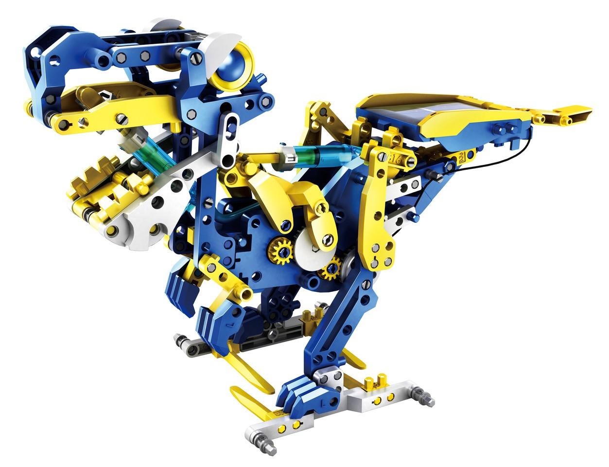 12 in 1 Robot Bouwset die geen batterijen nodig heeft!