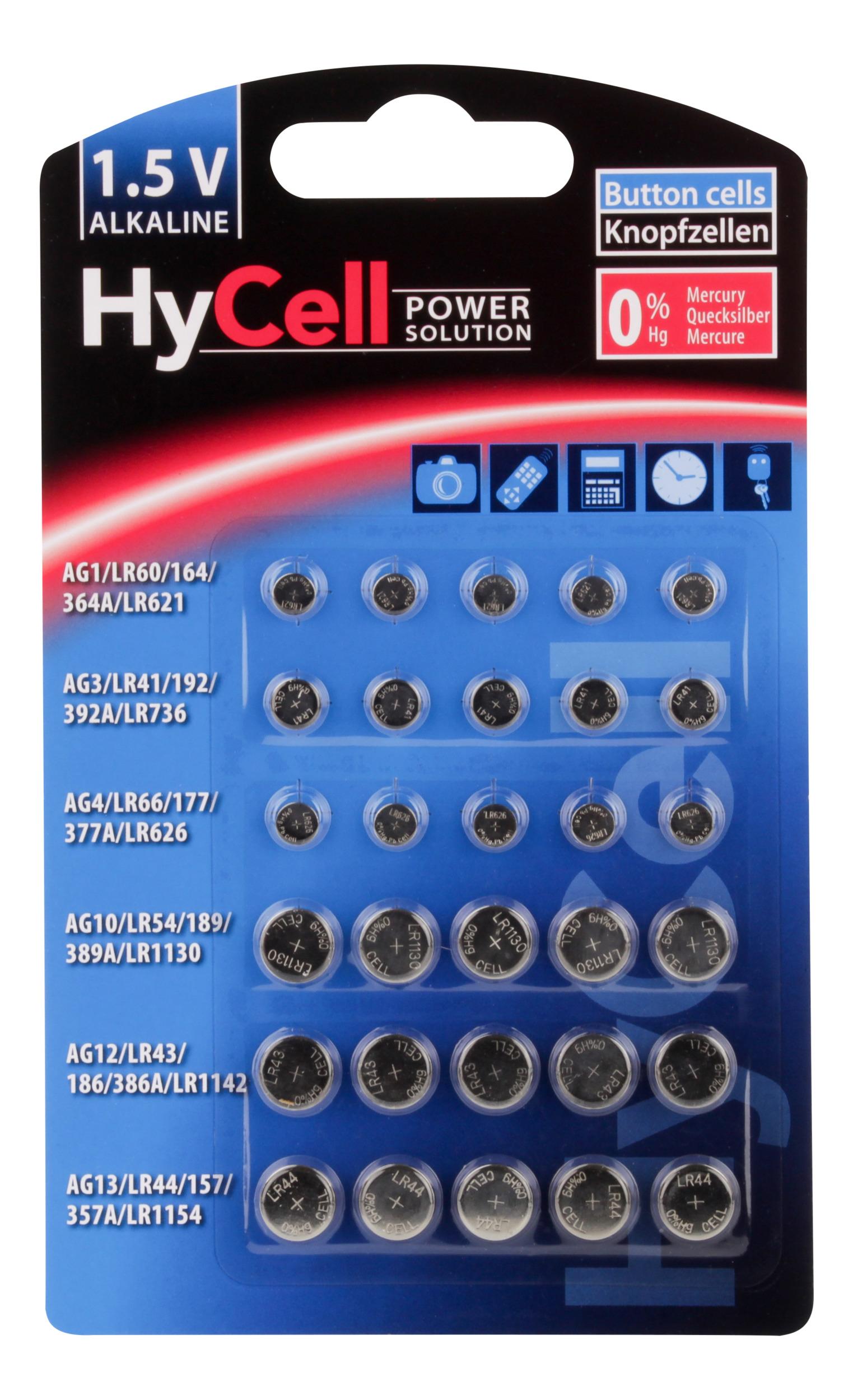 Alkaline knoopcellen set