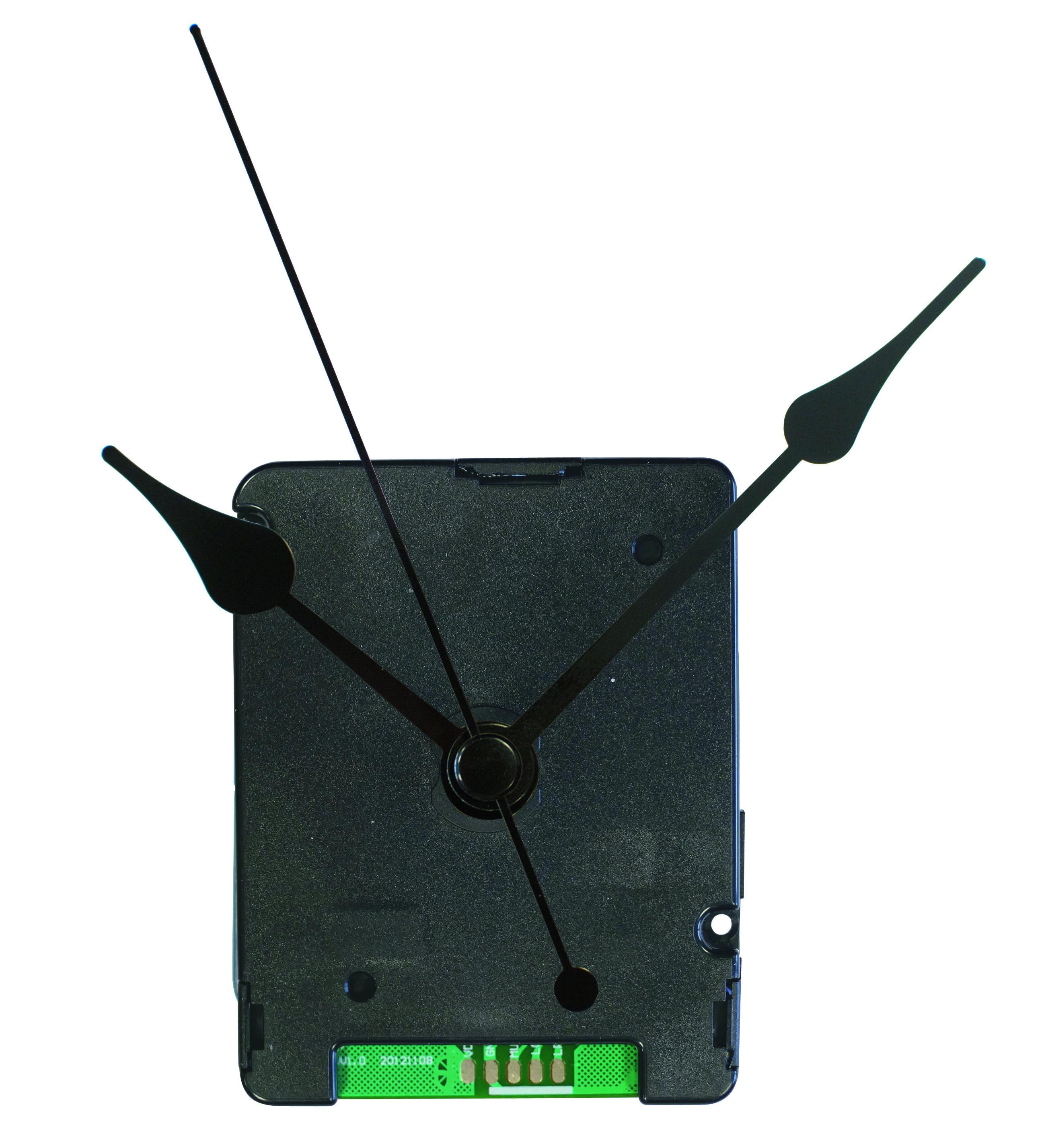 Tijdsein uurwerkset met slepende secondewijzer (geen getik).