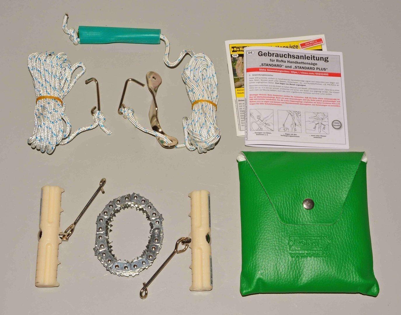 Handkettensäge mit verchromter Kette, Ausführung extra