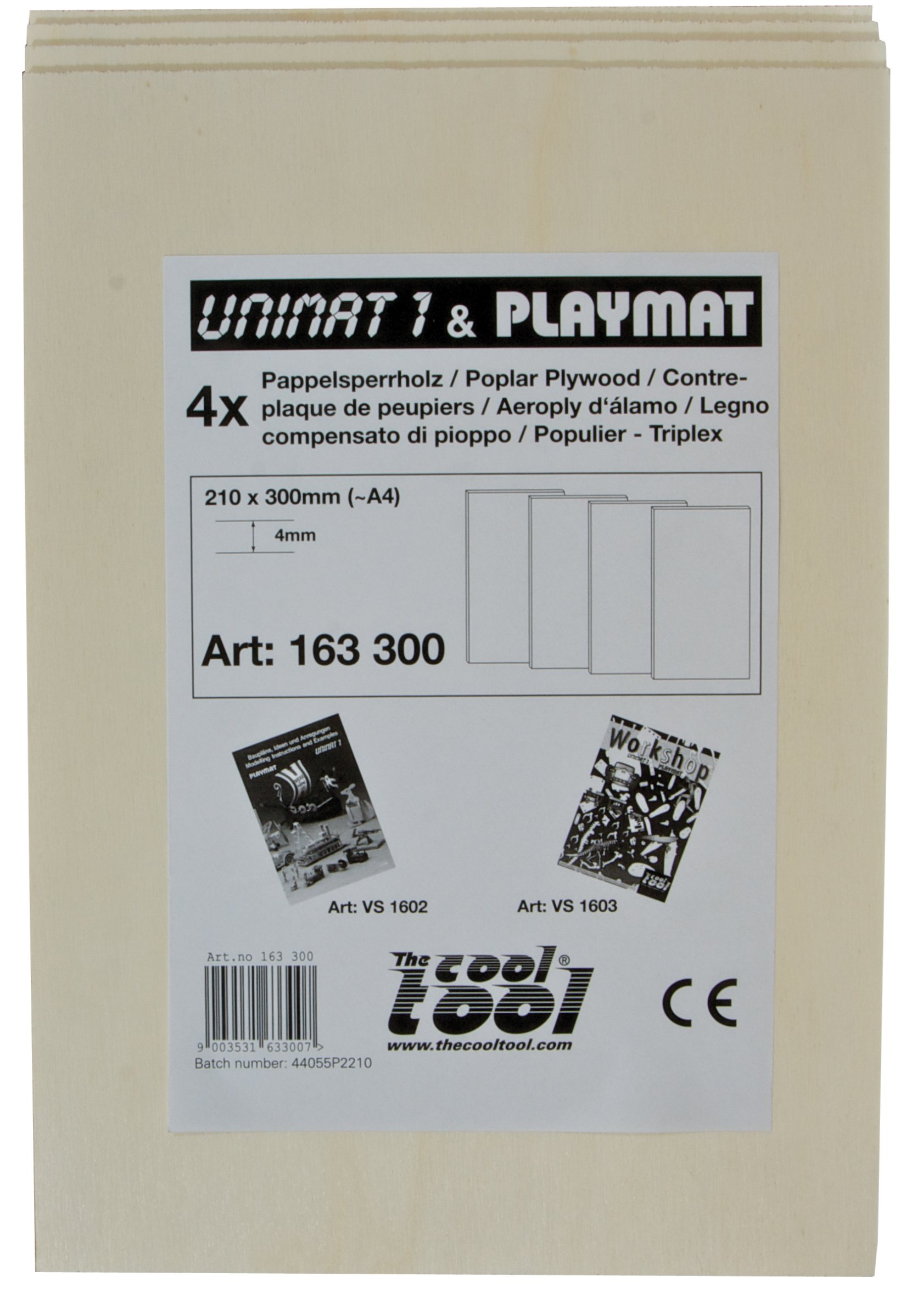 PLAYMAT Pappelsperrholz 4mm, 4 Stk.