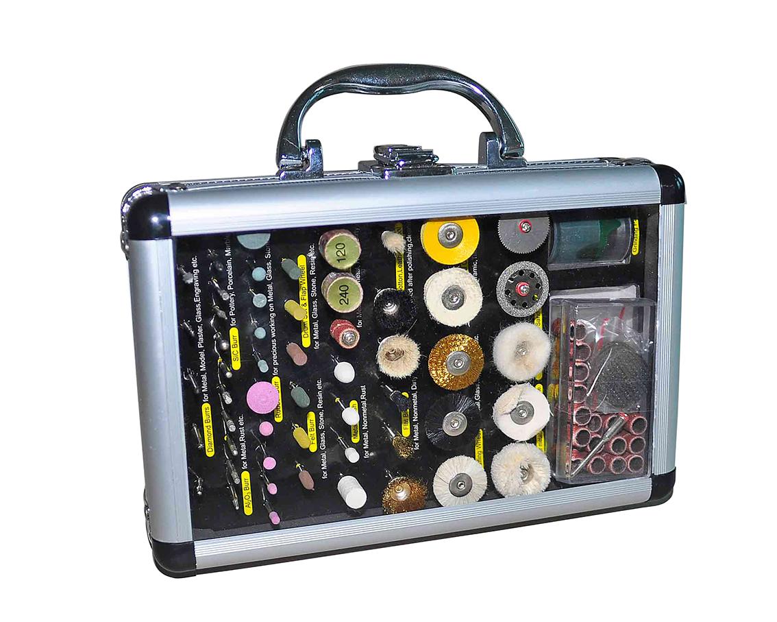 Gereedschapskoffer voor polijsten, schuren en slijpen, 100-delig