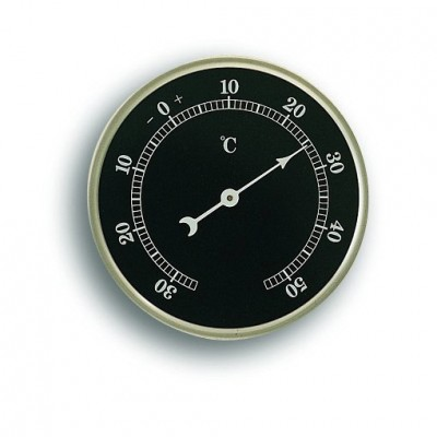 Thermometer Ø 81 mm  zwart