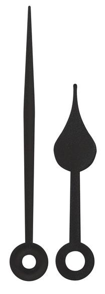 Wijzerpaar peer zwart Min.- / Uurwijzer L: 65mm / 45mm
