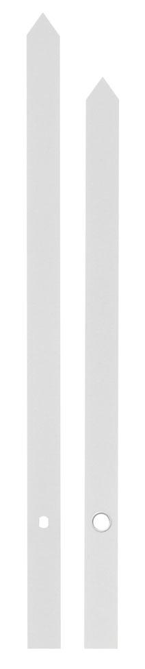 Zeigerpaar Euronorm Balken weiß Minutenzeiger-L:160mm