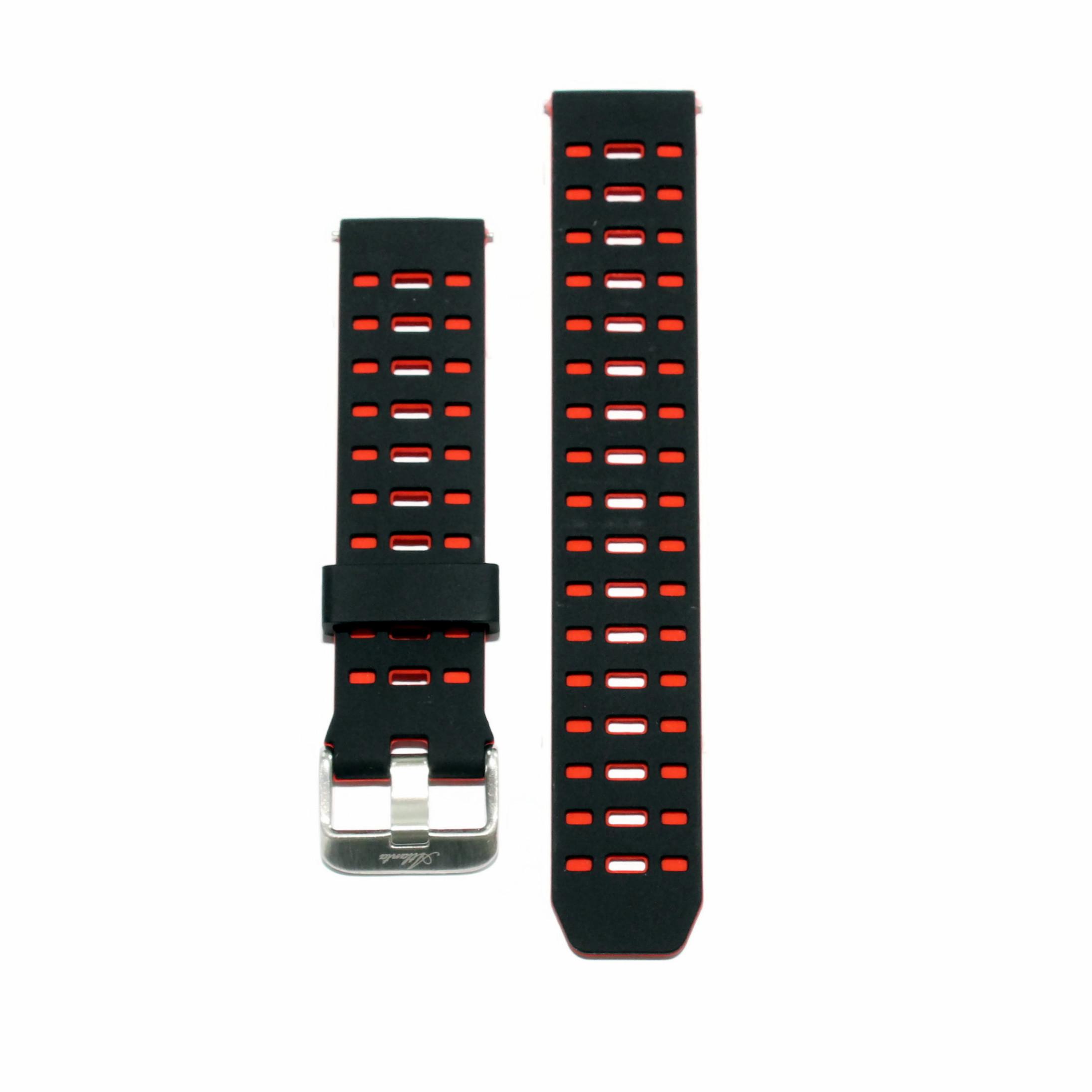 Vervangende band voor Fitness Tracker rond, rood/zwart