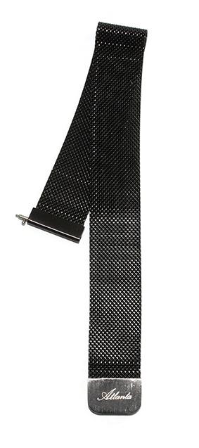 Ersatzarmband für Fitnesstracker rund, Mesh schwarz