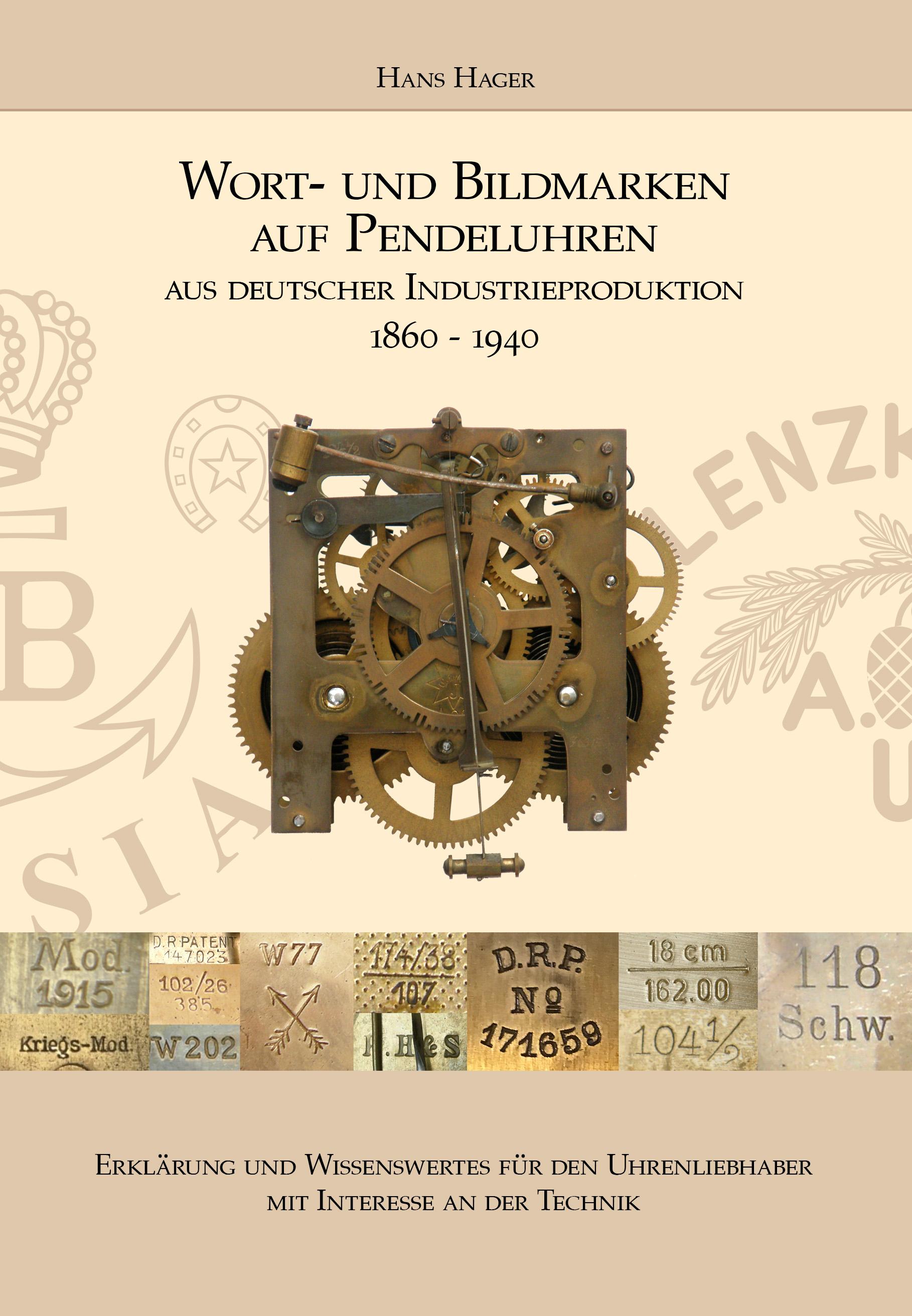 Boek Woord- en beeldmerken op slingeruurwerken (Duitse uitgave)