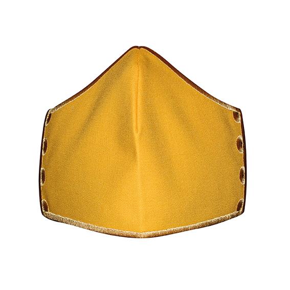 Mund-Nase-Bedeckung My Happy Curve unbestickt, gelb