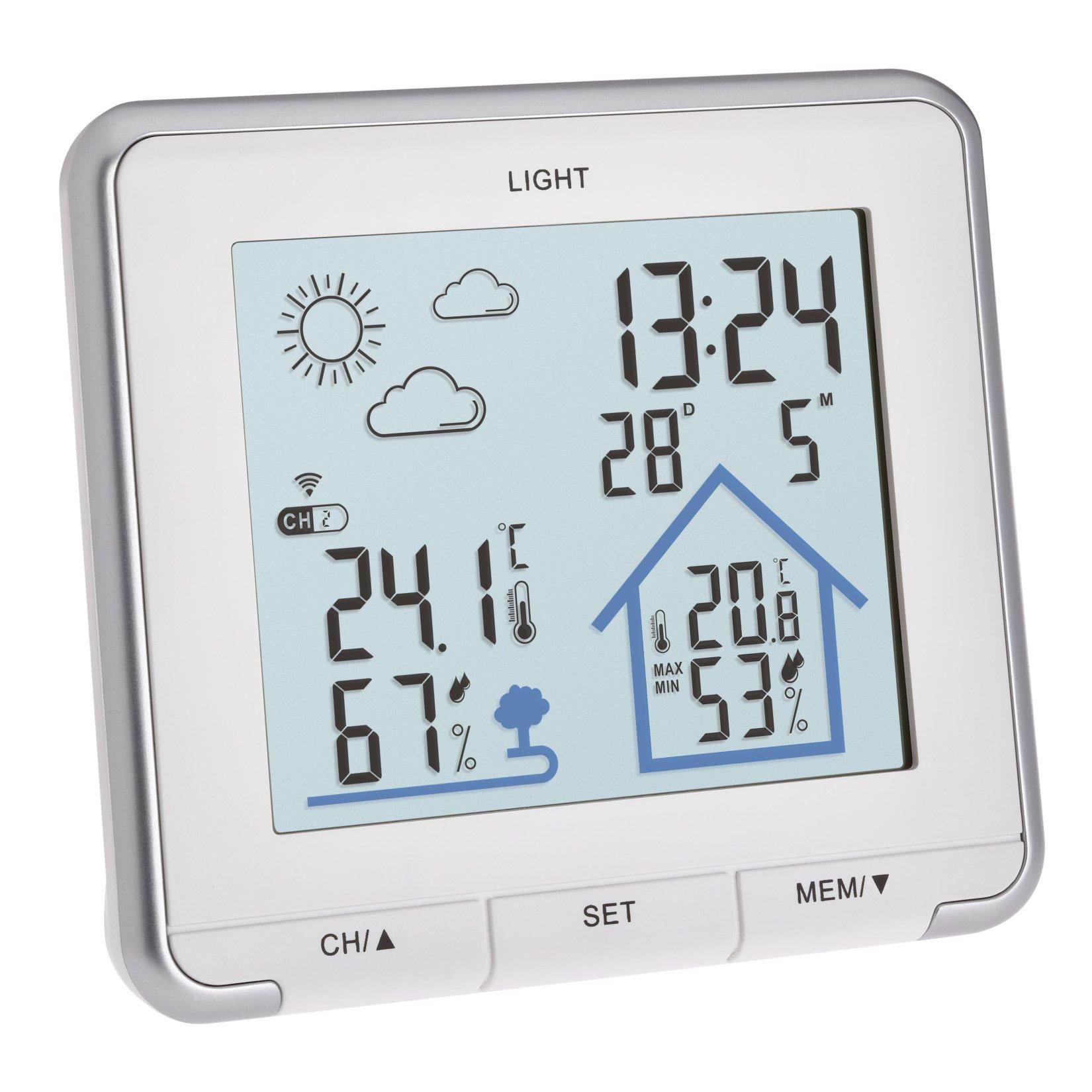 Radio controlled weather station LIFE white