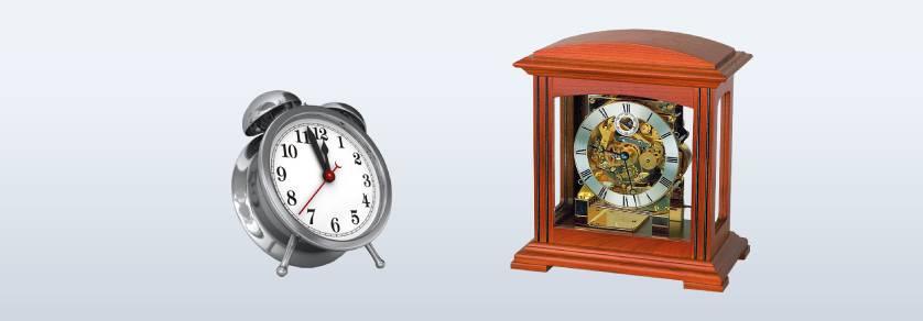Klok- en wekker glazen
