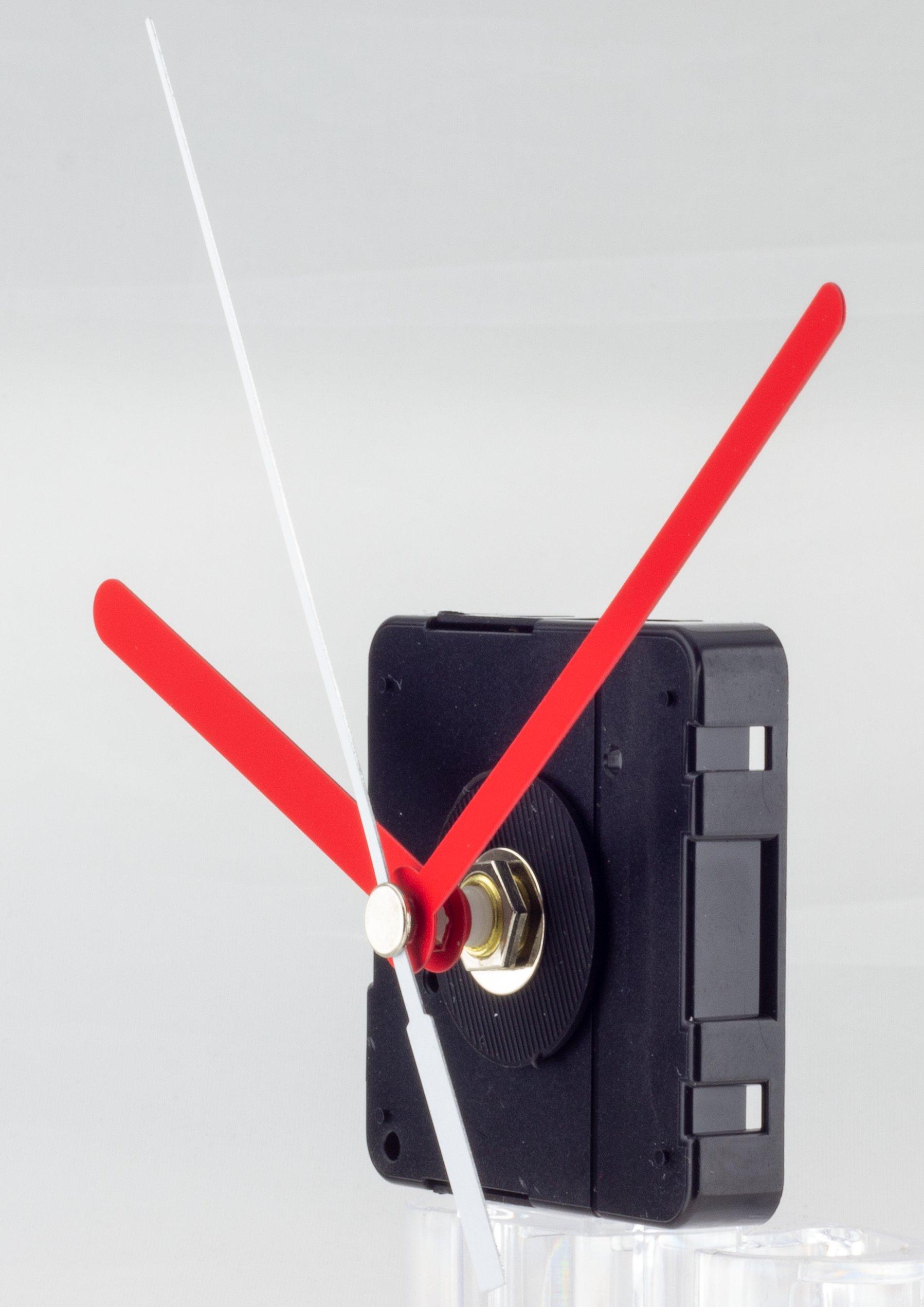 Kwarts uurwerk set LP incl. wijzers, kruipende secondewijzer, ZWL 11 mm - speciaal voor platen